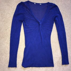 Sweaters - Royal blue sweater blouse